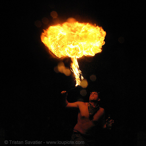 fire breathing performance (san francisco), burning, fire breather, fire breathing, fire eater, fire eating, night