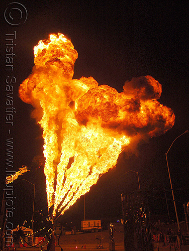 fire cannons - flame throwers, fire art, fire cannons, flame throwers