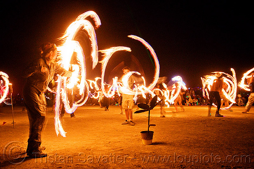 fire conclave - fire performers - burning man 2009, burning man, fire conclave, fire dancer, fire dancing, fire performer, fire spinning, flames, night of the burn, spinning fire