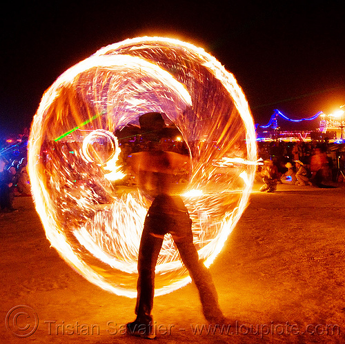 fire conclave - spinning fire ropes - burning man 2009, burning man, circle, fire conclave, fire dancer, fire dancing, fire performer, fire ropes, fire spinning, flames, night of the burn, ring, spinning fire