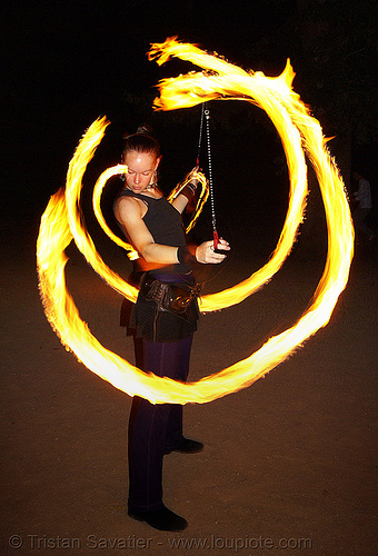 fire dancer (san francisco), fire dancing, fire performer, fire poi, fire spinning, flames, long exposure, night, people, spinning fire