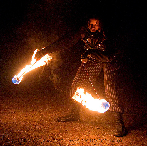 fire dancer (san francisco), fire dancing, fire performer, fire poi, fire spinning, flames, night, people, spinning fire