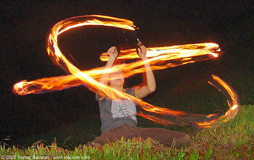 fire dancer, fire dancer, fire dancing, fire performer, fire poi, fire spinning, flames, long exposure, night, spinning fire