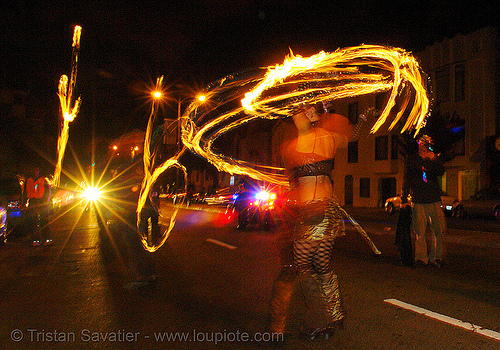 fire dancing in the streets, fire dancer, fire dancing, fire fans, fire performer, fire spinning, march of light, night, pyronauts, spinning fire