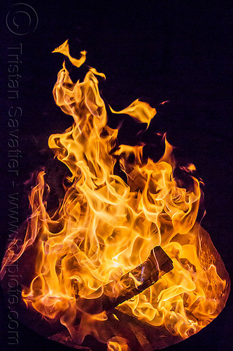 fire - flames - fire pit at night, bonfire, burning, fire pit, night, patterns, wood fire