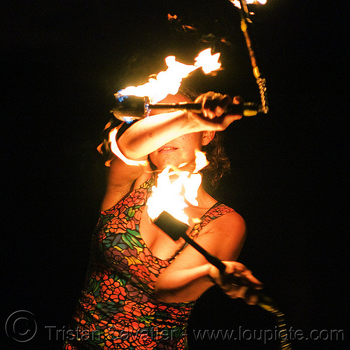 fire nunchaku, fire dancer, fire dancing, fire nunchaku, fire performer, fire spinning, flame, night, sarah, woman