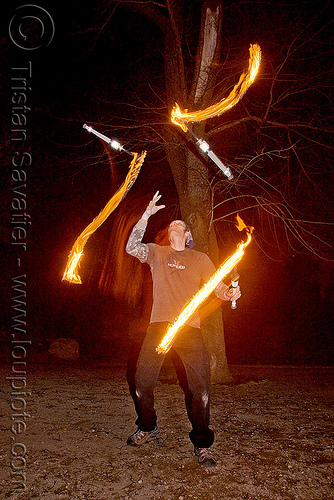 fire juggler, fire clubs, fire juggler, fire performers, flame, jugglers, juggling clubs, long exposure, night