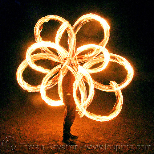fire performer spinning fire poi, fire dancer, fire dancing, fire performer, fire poi, fire spinning, flames, long exposure, night, spinning fire