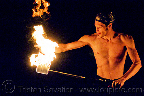 fire performer spinning fire staff (san francisco), fire dancer, fire dancing, fire performer, fire spinning, fire staff, man, night, spinning fire, vin deluca