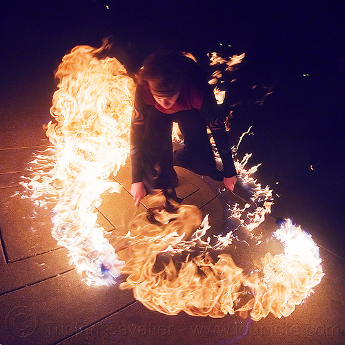 fire poi circle of fire, fire dancer, fire dancing, fire performer, fire poi, fire spinning, flames, man, night