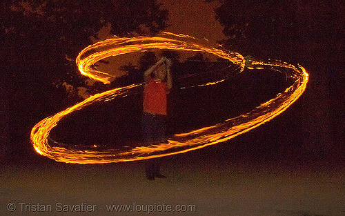 fire spinning (san francisco), fire dancer, fire dancing, fire performer, fire spinning, flames, long exposure, night, shanti alex, spinning fire