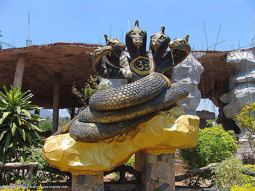 five-headed Nāga snake deity - hindu park near phu ruea, west of loei (thailand), deity, five-headed, hindu, hinduism, naga snake, nāga dragon, nāga snake, phu ruea, ประเทศไทย
