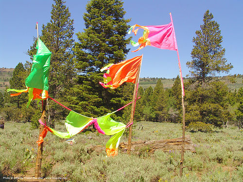 flags - rainbow gathering - hippie, hippie, rainbow family, rainbow gathering