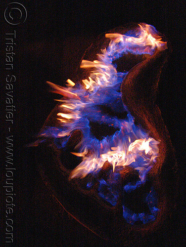 footprint, burning, dan das mann, fire art, fire arts festival, flames, pyroboy, the crucible