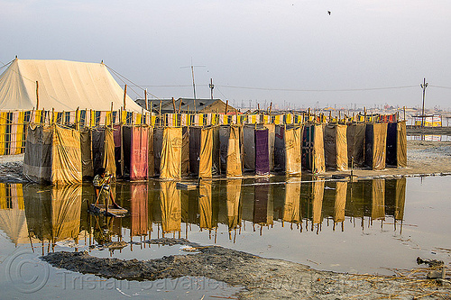 flooded latrines - kumbh mela 2013 (india), child, flooded, hindu pilgrimage, hinduism, india, kid, latrines, maha kumbh mela, pit toilets, sanitation, standing water