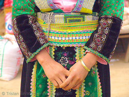 flower hmong tribe girl - vietnam, bảo lạc, colorful, flower h'mong tribe, flower hmong, hill tribes, indigenous, vietnam