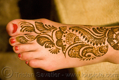 Foot Mehndi - Henna Temporary Tattoo (Insia)