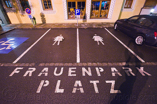 frauenparkplatz - parking spaces reserved for women (austria), austria, frauen, frauenparkplatz, parking space, parkplatz, reserved, women