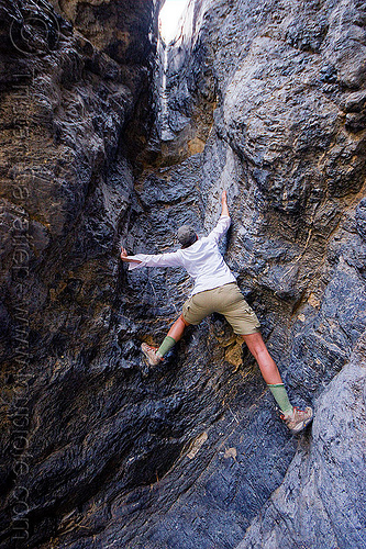 free climbing, canyon wall, cliff, climber, death valley, desert, dry fall, grotto canyon, lauren, mountain, rock climbing, slot canyon, stone, woman