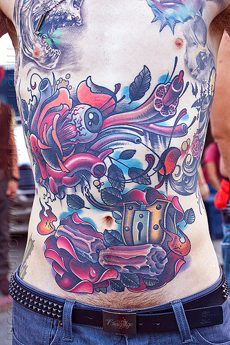 chest tattoo, bare chest, burning man decompression, chest tattoo, full body tattoos, jeremiah, tattooed