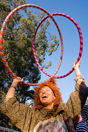 gabrielle with hula hoops, bluegrass, festival, gabrielle, golden gate park, hardly, hula hoop, hulahoops, hullahooper, strictly, woman