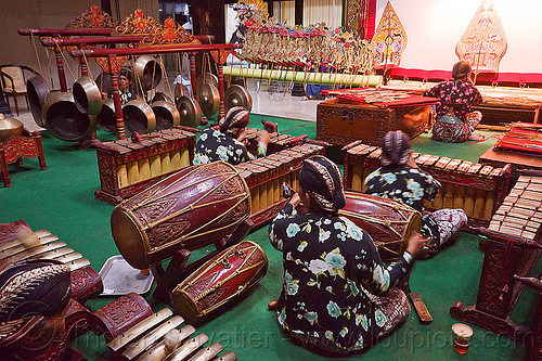 gamelan ensemble orchestra - yogyakarta (java), drums, gamelan ensemble, gongs, indonesia, jogja, karawitan, men, metallophones, music, musical, orchestra, percussion, players, shadow play, shadow puppet theatre, shadow puppetry, shadow puppets, shadow theatre, sitting, wayang kulit, xylophones, yogyakarta