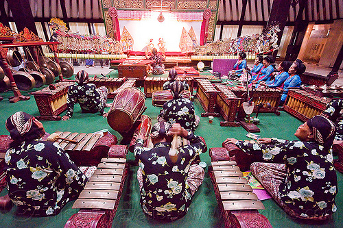 gamelan, drums, gamelan ensemble, gongs, java, jogja, jogjakarta, karawitan, kendang drum, men, metallophones, music, musical, orchestra, people, percussion, shadow play, shadow puppet theatre, shadow puppetry, shadow puppets, shadow theatre, sitting, wayang kulit, women, xylophones, yogyakarta