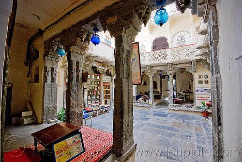gangaur palace hotel - udaipur (india), courtyard, gangaur palace hotel, lobby, udaipur