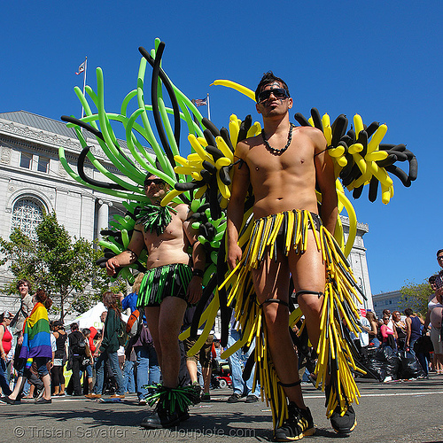 gay pride (san francisco), balloons, gay pride festival, man, SF