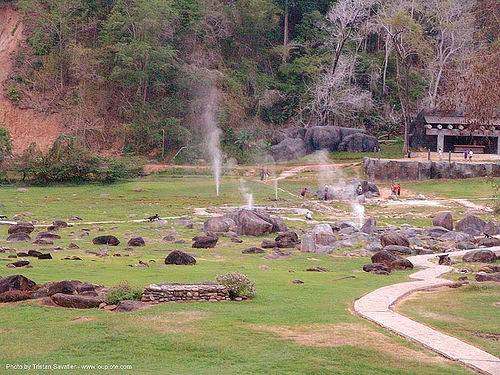 geysers - hot springs - doi pha hom pok national park - doi fang national park (thailand), doi fang national park, doi pha hom pok national park, geysers, hot springs, ประเทศไทย