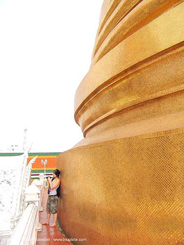 giant golden stupa (bangkok) - thailand, golden color, temple, wat, บางกอก, ประเทศไทย