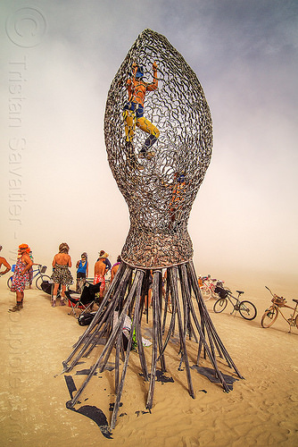 giant jellyfish sculpture - burning man 2016, art installation, burning man, giant jellyfish, jellyfish sculpture