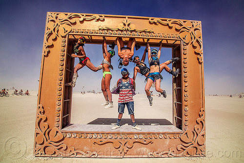 giant frame - burning man 2016, art installation, burning man, giant frame