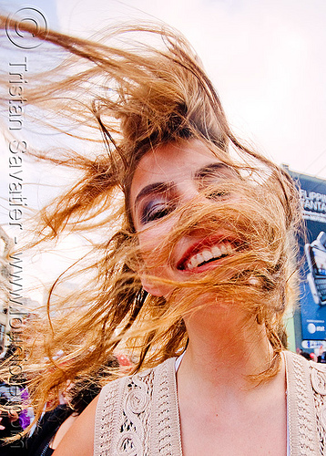 hair flip, hair flip, hait, how weird festival, long hair, windy, woman