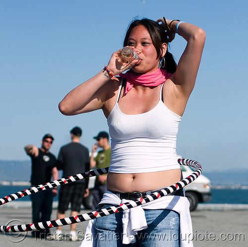 girl hula hooping at renegade party - cristina (san francisco), cristina, hula hoop, hula hooper, hula hooping, woman
