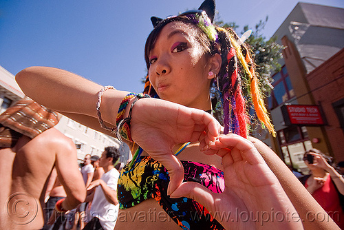 heart sign, finger heart, gay pride festival, heart sign, twisted jessikr, woman