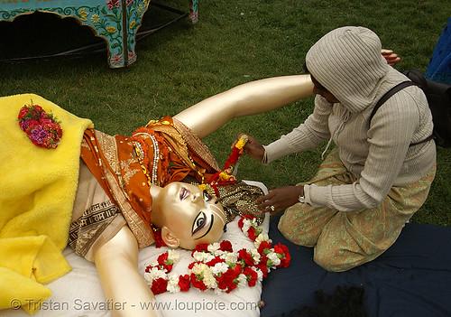 "goddess statue - hare krishna ""chariot festival of india"" (san francisco), chariot festival, festival of chariots, festival of india, goddess, hare krishna festival, hindu, hinduism, iskcon, ratha yatra, statue, vaisnava"