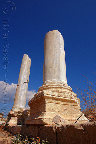 greek columns, antique, aphrodisias, greek ruins, marble columns, stone