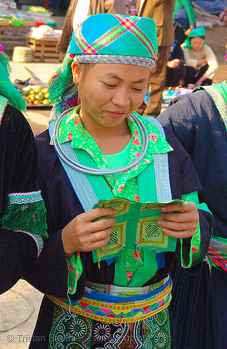 green hmong tribe girl - vietnam, bảo lạc, green h'mong tribe, green miao, hill tribes, hmong njua, indigenous, lub dab tsho, mong njua, tribe girl