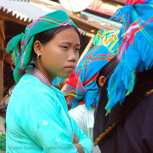 green hmong tribe girl - vietnam, bảo lạc, colorful, green hmong, hill tribes, hmong tribe, indigenous, vietnam