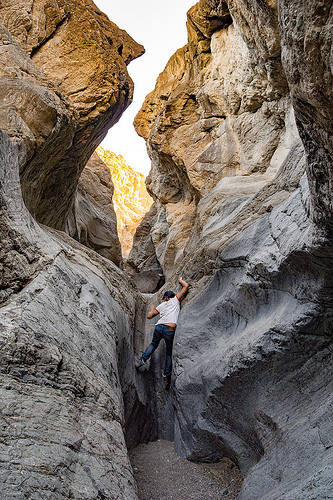 grotto canyon - death valley, cliff, death valley, desert, grotto canyon, rockclimbing, woman