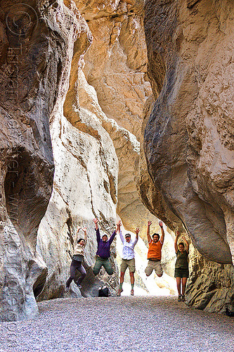 grotto canyon - death valley, canyon walls, cliff, death valley, desert, gravel, grotto canyon, jump, jumpers, jumpshot, mountain, narrow, rock wall, sharon, slot canyon, stone