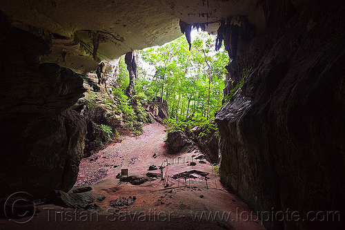 natural cave in rain forest (borneo), archaeology, backlight, cave formations, cave mouth, caving, concretions, natural cave, niah caves, niah painted cave, rain forest, speleothems, spelunking, stalactites