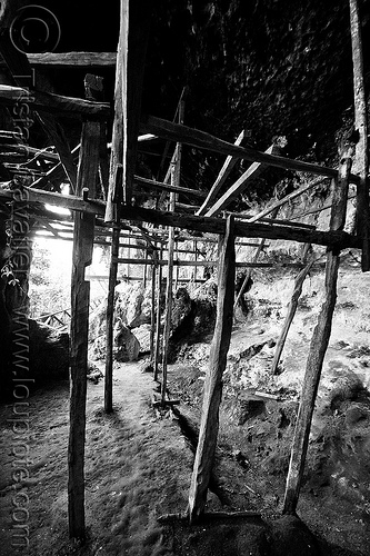 traders cave - niah national park (borneo), abandoned, archaeology, backlight, birds-nest, caving, natural cave, niah caves, spelunking, traders cave, wooden frames