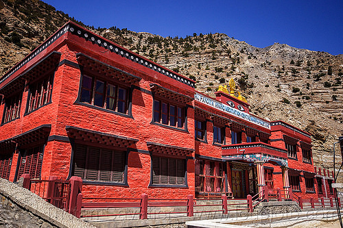guru pandita anand meditation center - marpha (nepal), annapurnas, kali gandaki valley, marpha, village