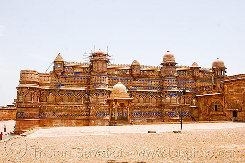 gwalior fort (india), architecture, fort, fortress, gwalior, mansingh palace, towers, ग्वालियर क़िला