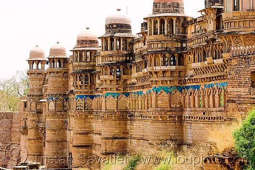 gwalior fort, architecture, fort, fortifications, fortified wall, fortress, gwalior, mansingh palace, towers, ग्वालियर क़िला