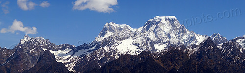 haathi parvat mountain (india), haathi parvat, mountains, panorama, peak, snow, summit
