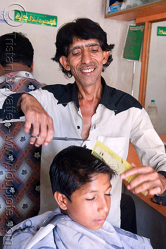 hairdresser cutting kid's hair, barber, child, comb, haircut, hairdresser, kid, man, scissors, udaipur