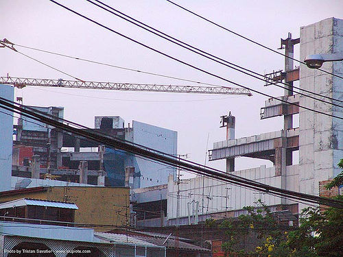 half-finished buildings - bangkok - thailand, bangkok, half-finished buildings, skyline, บางกอก, ประเทศไทย